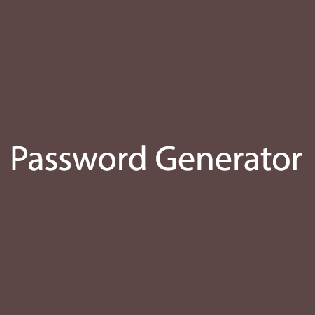 Password-and-Serial-Key-Generator